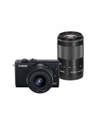 Aparat Foto Mirrorless Canon EOS M200, Negru cu Obiectiv 55-200mm F4.5-6.3 IS + 15-45mm F3.5-6.3