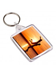 Mini Rama Foto cu Inel pentru Chei Adventa, 35x45mm, Model Clasic