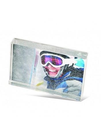 Rama Foto Acryl Glitter Blox pentru Fotografii 10x15 cm, cu Stelute Argintii