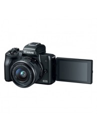 Aparat Foto Mirrorless Canon EOS M50, Negru cu Obiectiv EF-M 15-45mm f/3.5-6.3 IS STM