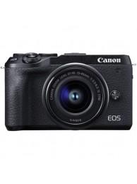 Aparat foto Mirrorless Canon EOS M6 II, 32.5 MP, 4K, Negru + Obiectiv 15-45mm