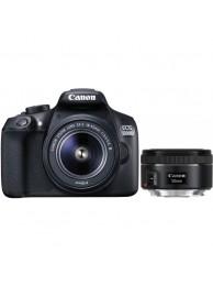 Canon EOS 1300D cu Obiectiv 18-55mm DC III si Obiectiv 50mm STM