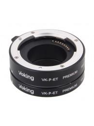 Voking VK-P-ET, Set tuburi extensie pentru Micro 4/3 (Panasonic/Olympus), constructie metalica