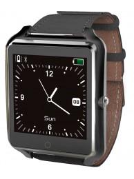 SmartWatch Bluboo uWatch, Ecran Tactil, Bluetooth, Standard protectie la umezeala IP65, Pedometru, Monitorizare Somn, Memento Sedentar, 350 mAh, Negru