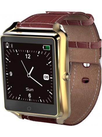 SmartWatch Bluboo uWatch, Ecran Tactil, Bluetooth, Standard protectie la umezeala IP65, Pedometru, Monitorizare Somn, Memento Sedentar, 350 mAh, Auriu
