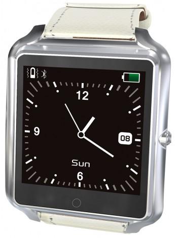 SmartWatch Bluboo uWatch, Ecran Tactil, Bluetooth, Standard protectie la umezeala IP65, Pedometru, Monitorizare Somn, Memento Sedentar, 350 mAh, Argintiu