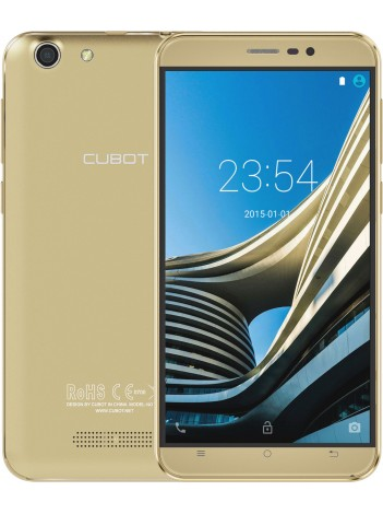 Telefon Mobil CUBOT NoteS, Dual SIM 3G, 5.5 inch HD IPS, 4Core, 2+16GB, Android 6.0, Auriu, BUNDLE(include Husa Silicon)