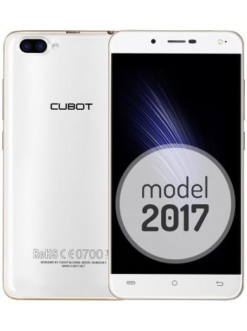 "Telefon Mobil Cubot Rainbow 2, Dual SIM 3G, 5"" HD IPS, 4Core 1.3 GHz, 1GB + 16GB, Dual Camera 13+2 MPx, Blit Frontal, LED Notificare (Albastru), Certificat GMS, Alb +BONUS: Carcasa Transparenta si Folie Plastic"