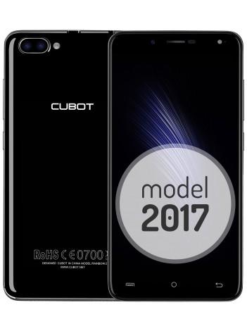 "Telefon Mobil Cubot Rainbow 2, Dual SIM 3G, 5"" HD IPS, 4Core 1.3 GHz, 1GB + 16GB, Dual Camera 13+2 MPx, Blit Frontal, LED Notificare (Albastru), Certificat GMS, Negru +BONUS: Carcasa Transparenta si Folie Plastic"