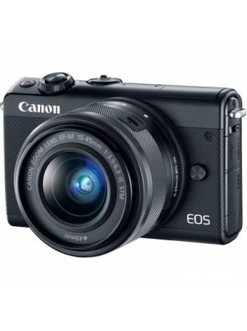Aparat Foto Mirrorless Canon EOS M100, Negru cu Obiectiv EF-M 15-45mm