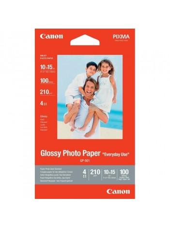 Hartie Foto Canon GP501S, Finisaj Glossy, 10x15cm, 100coli, 210g/mp