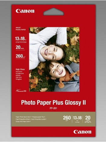 Hartie Foto Canon PP201, Finisaj Glossy II, 13x18cm, 20 coli, 275g/mp