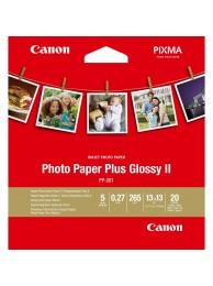 Hartie Foto Canon PP201, Finisaj Glossy II, 13x13cm, 20 coli, 265g/mp