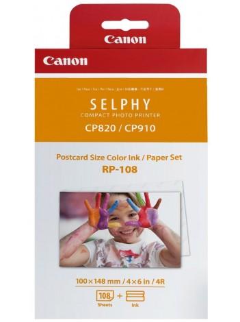 Canon RP-108, Ribbon + Hartie Foto, Format Carte Postala