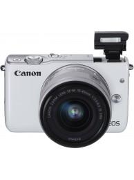 Aparat Foto Mirrorless Canon EOS M10 Alb cu Obiectiv EF-M 15-45mm f/3.5-6.3 IS STM