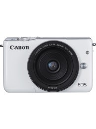 Aparat Foto Mirrorless Canon EOS M10 Alb cu Obiectiv EF-M 22mm f/2.0 STM