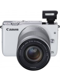 Aparat Foto Mirrorless Canon EOS M10 Alb cu Obiectiv EF-M 55-200mm f/4.5-6.3 IS STM