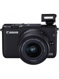 Aparat Foto Mirrorless Canon EOS M10 Negru cu Obiectiv EF-M 15-45mm f/3.5-6.3 IS STM
