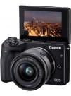 Aparat Foto Mirrorless Canon EOS M3, Negru cu Obiectiv EF-M 15-45mm f/3.5-6.3 IS STM