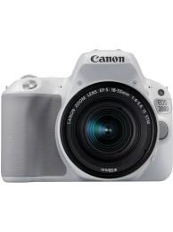 Aparat Foto Canon EOS 200D cu Obiectiv 18-55mm f/4-5.6 IS STM, Alb