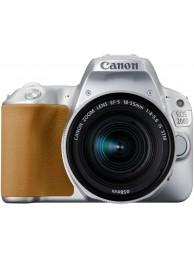 Aparat Foto Canon EOS 200D cu Obiectiv 18-55mm f/4-5.6 IS STM, Argintiu