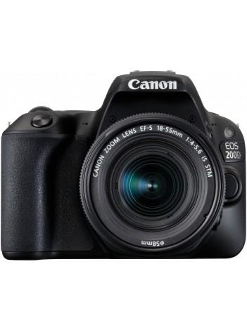 Aparat Foto Canon EOS 200D cu Obiectiv 18-55mm f/4-5.6 IS STM