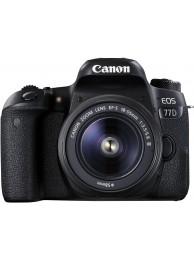 Canon EOS 77D cu Obiectiv 18-55mm f/3.5-5.6 DC III +CashBack Canon 240LEI