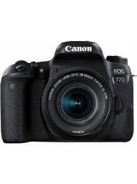 Canon EOS 77D cu Obiectiv 18-55mm f/4-5.6 STM +CashBack Canon 240LEI