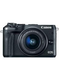 Canon EOS M6, Negru cu Obiectiv 15-45mm