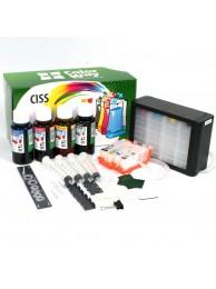 Sistem CISS ColorWay pentru HP 364 (damper, cu cip) cu cerneala 4x100 ml.