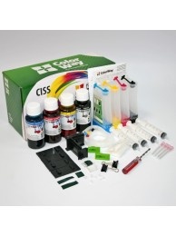 Sistem CISS ColorWay pentru Brother LC123/127 cu cerneala 4x100 ml.