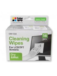 ColorWay CW-1334 Servetele umede/uscate pentru Curatarea Ecranelor, pachet 16buc