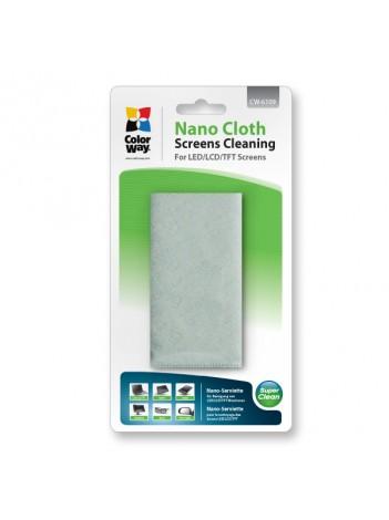 ColorWay Nano-cloth CW-6109 Microfibra pentru curatarea Ecranelor LCD si a Sticlei