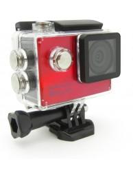 Camera Video de Actiune GoXtreme Rallye, HD, 5 MPx, Rosu (Include 6 Accesorii)