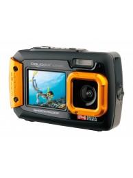 Camera Foto Subacvatica AquaPix W1400 Active, 20 MPx, Dustproof, Shockproof, Portocaliu (Dual Display, Pentru Selfie-uri Sub Apa)