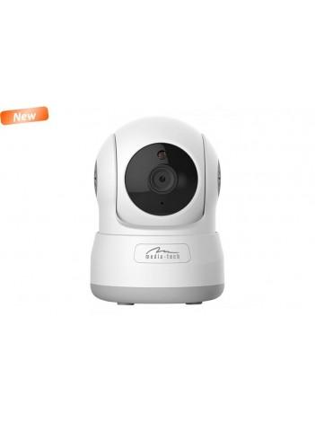 Camera IP Media-Tech Cloud Securecam HD 720p pentru utilizare la Interior, WiFi, Supravechere Video si Audio de pe Mobil si PC, Slot pentru microSD, Detectare Miscare, 4 LED-uri pentru Vedere de Noapte