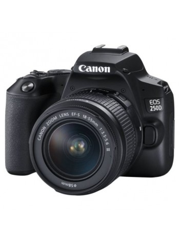 Aparat Foto DSLR Canon EOS 250D cu Obiectiv 18-55mm DC III