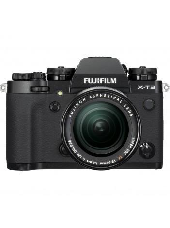 Aparate foto Mirrorless FUJIFILM kit X-T3 negru cu obiectiv XF-18-55