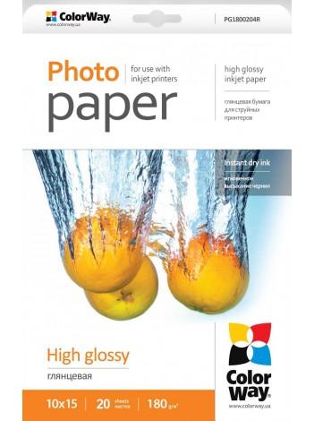 Hartie Foto ColorWay high glossy 180g/m2, 10x15, 20Buc