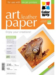 "Hartie Foto ColorWay ART glossy textura ""leather"" 230g/m2, A4, 10Buc."