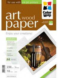 "Hartie Foto ColorWay ART glossy textura ""wood"" 230g/m2, A4, 10Buc."