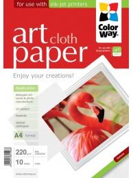 """Hartie Foto ColorWay ART mata textura """"cloth"""" 220g/m2, A4, 10Buc."""