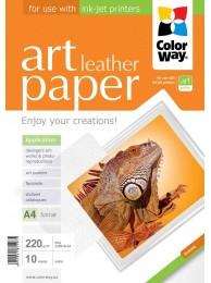 "Hartie Foto ColorWay ART mata textura ""leather"" 220g/m2, A4, 10Buc."