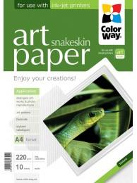 "Hartie Foto ColorWay ART mata textura ""snakeskin"" 220g/m2, A4, 10Buc."