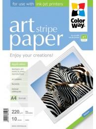 "Hartie Foto ColorWay ART mata textura ""strip"" 220g/m2, A4, 10Buc."