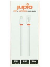 Cablu Jupio USB - Lightning, pentru Apple, 1m, Plat, Alb