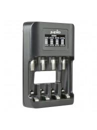 Incarcator Jupio USB Ultrarapid pentru acumulatori AA si AAA, 4 canale, 3 Ani Garantie