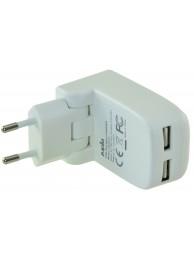 Incarcator de retea Jupio, dual USB, 5V, Alb