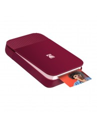 Imprimanta foto portabila Kodak Smile, Bluetooth, Rosu, Imprimare Termica