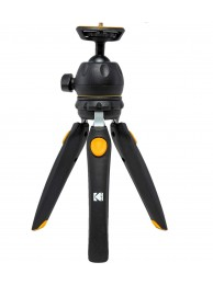 KODAK PhotoGear Mini, mini-trepied de masa cu cap bila, 23cm, picioare reglabile in 5 pozitii, include adaptor pentru smartphone si pentru camere de actiune